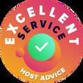 """Věnovali jsme čas a osobně a anonymně jsme prověřili každý zákaznický servis jednotlivých firem.  """"Odznak excelence"""" byl udělen hostingovým společnostem, které splnily vysoké nároky HostAdvice na zákaznický servis z pohledu rychlosti, účinnosti, znalosti a především užitečnosti."""