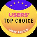 Přiděleno top 10 web hostingovým společnostem s nejvyšším uživatelským hodnocením.