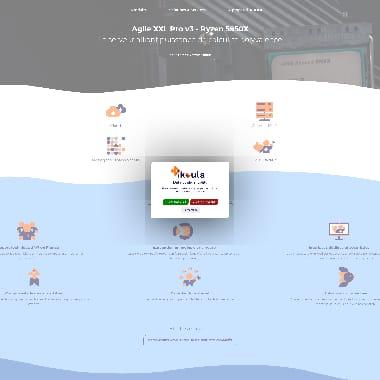 Ikoula HomePage Screenshot