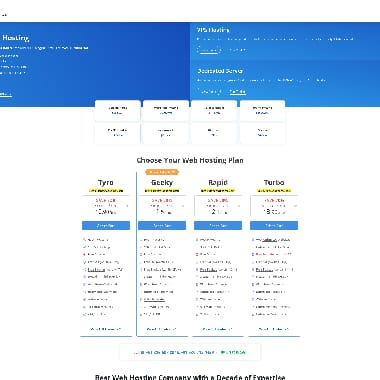 MilesWeb HomePage Screenshot